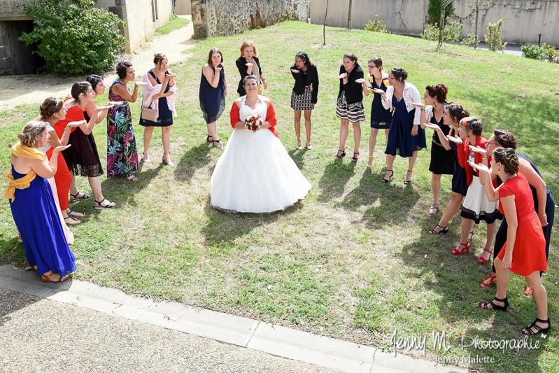photo de groupe fun mariage la mariée et ses amies