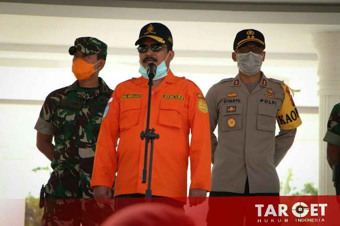 Dandim Aceh Timur Ikuti Apel Penyemprotan Disinfektan di Kota Langsa