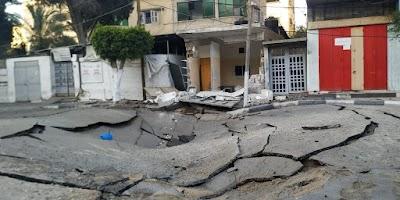 شاهد آثار الدمار والخراب الذى خلفته قوات الاحتلال الاسرائيلي على قطاع غزة