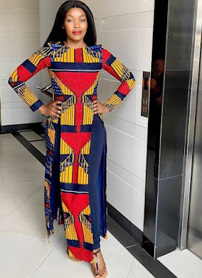 Latest Ankara Kaftan styles for Ladies