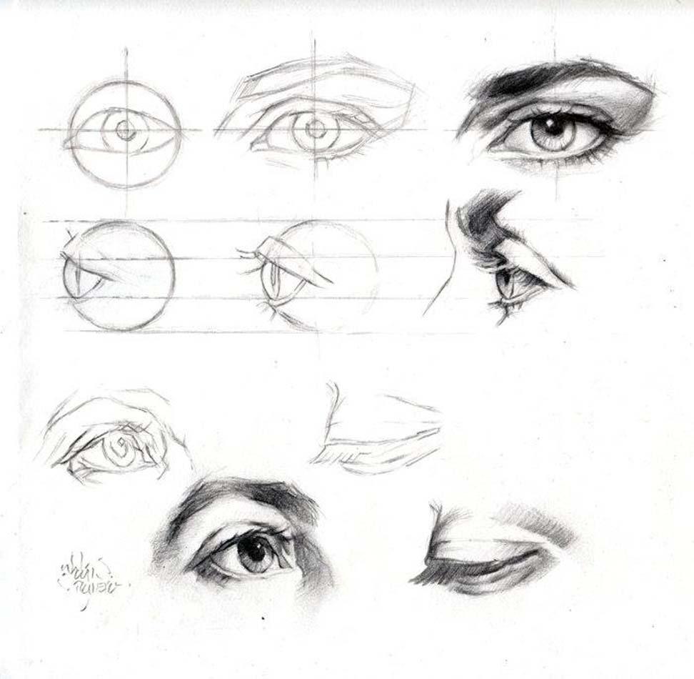 desenhe tudo cabeça e face