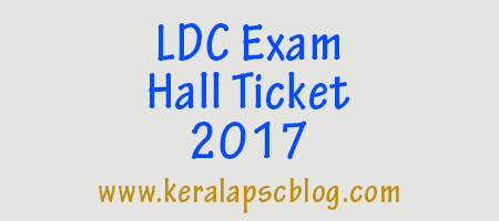 Download Kerala PSC Lower Division Clerk Hall Ticket