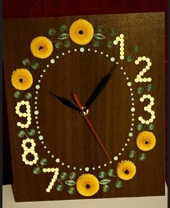 Paprvilg: quilled wall clock / falira quilling dsztssel