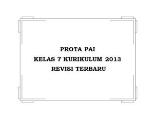 Prota PAI Kelas 7 Kurikulum 2013