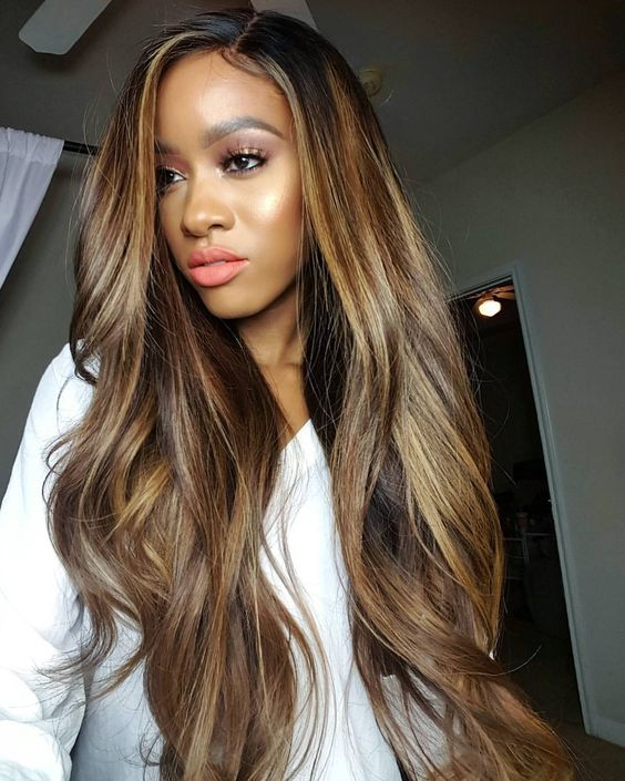 Ombre Brown Hair Color For Black Girls