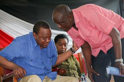 Gideon Mung'aro with President Uhuru Kenyatta. PHOTO | FILE