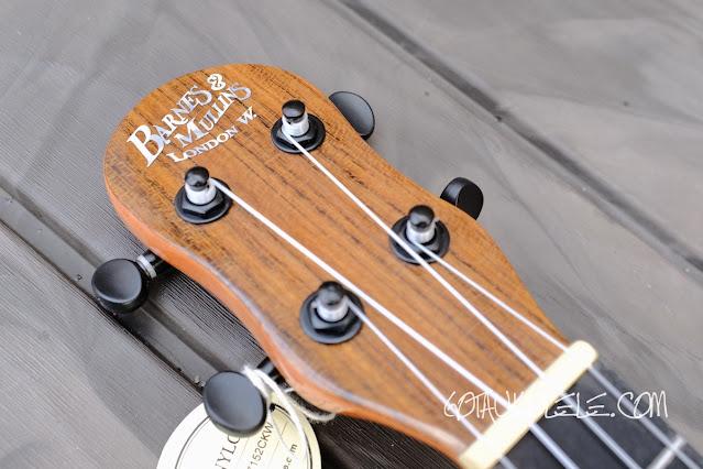 Barnes Mullins BMUK5C Concert Ukulele headstock