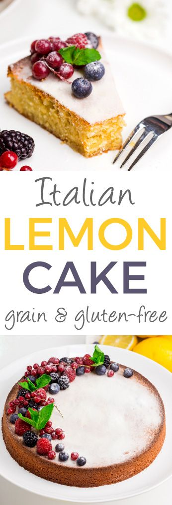 Italian Lemon Almond Flour Cake Recipe