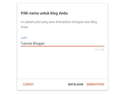 Daftar Nama Blog Blogspot