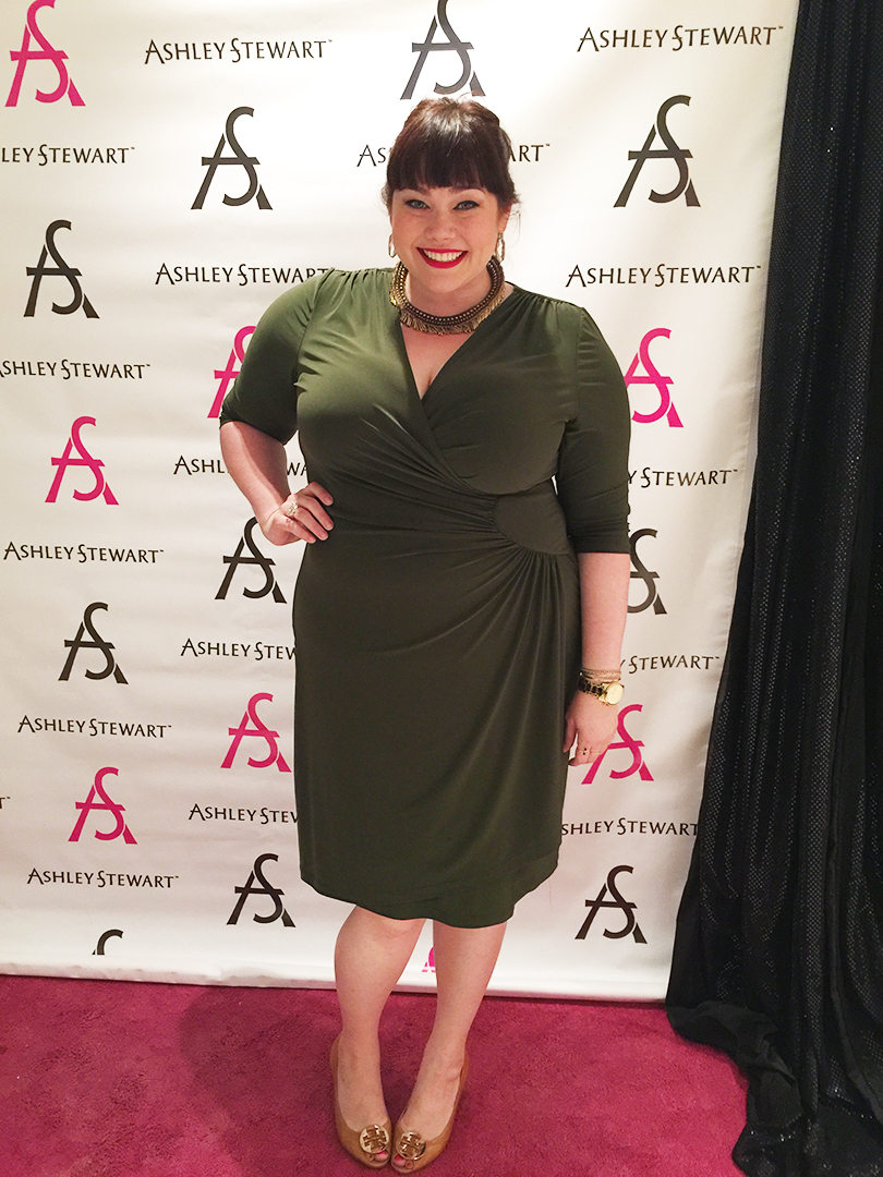 Plus Size Blogger Amber from Style Plus Curves in Kiyonna Ciara Cinch Dress at the Celebrate My Size Expo during FFFweek