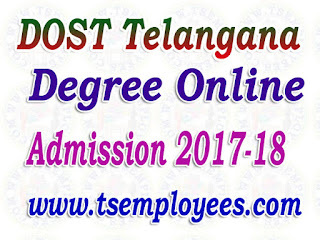 dost.cgg.gov.in Telangana Degree online Admissions 2017 - 18