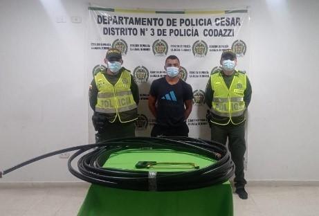 hoyennoticia.com, Robó $6 millones en cables telefónicos en La jagua de Ibirico