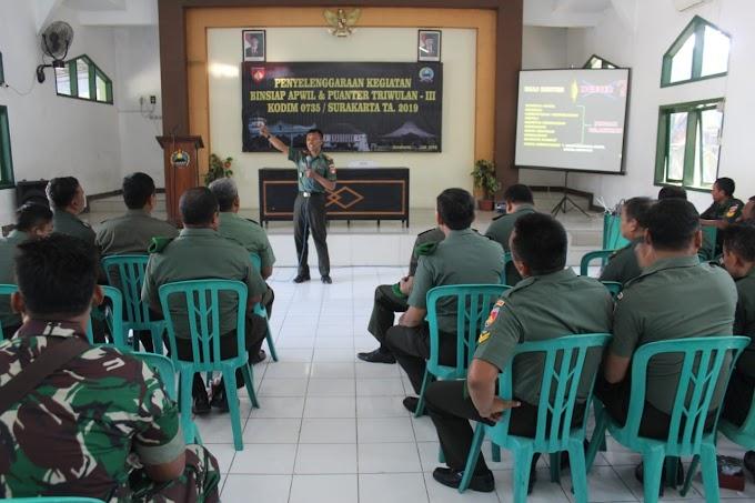 Binsiap Apwil Dan Puanter, Sarana Meningkatkan Kemampuan Prajurit Kodim Surakarta