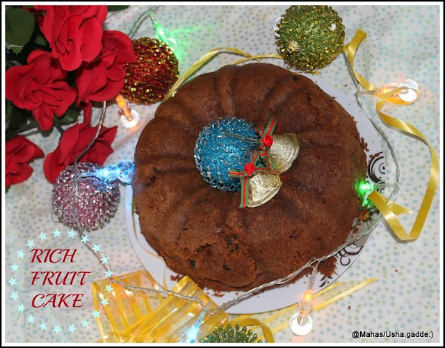 Very Rich Rum Christmas Cake Using Any Dried Fruit