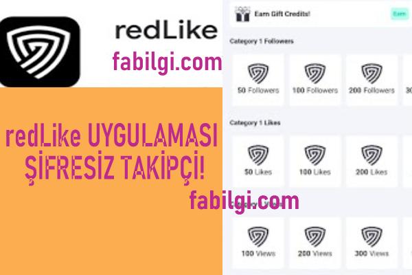Instagram redLike Uygulaması Şifresiz Takipçi Ağustos 2021