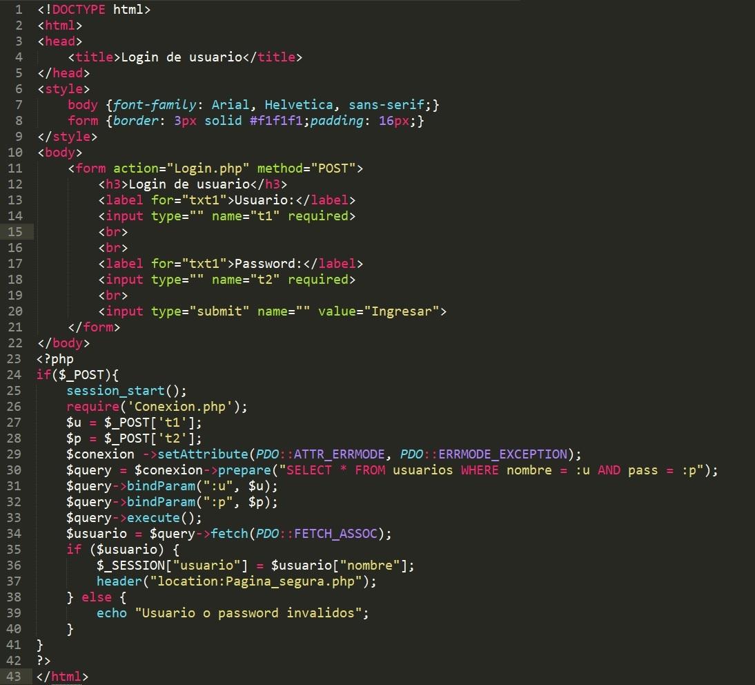 Código de login en php con MySQL super fácil