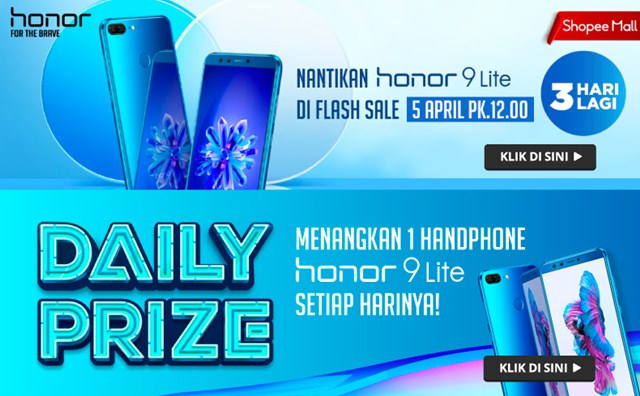Flash Sale Honor 9 Lite di Shopee - shopee.co.id