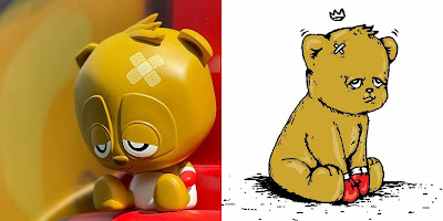 """Born Fighter"" The Bear Champ x Sad Panda Vinyl Figure by JC Rivera x 7Sketches x Strangecat Toys"