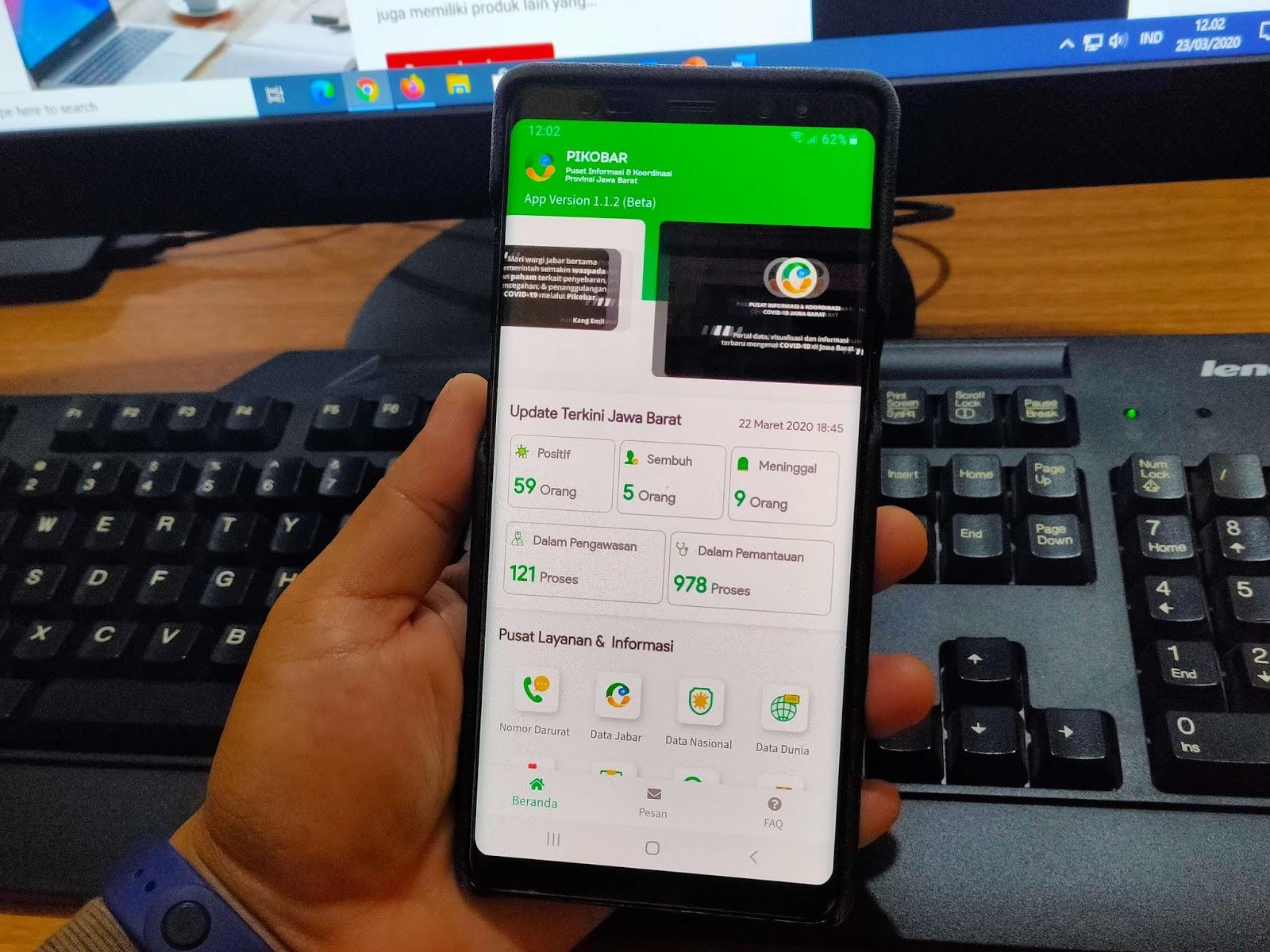 Pemerintah Provinsi Jawa Barat Luncurkan Aplikasi PILKOBAR Aplikasi Pelayanan Satu Pintu Penanganan COVID-19