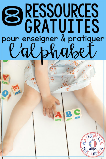 Check out this blog post for 8 French FREEBIES for teaching and practicing the alphabet en français!