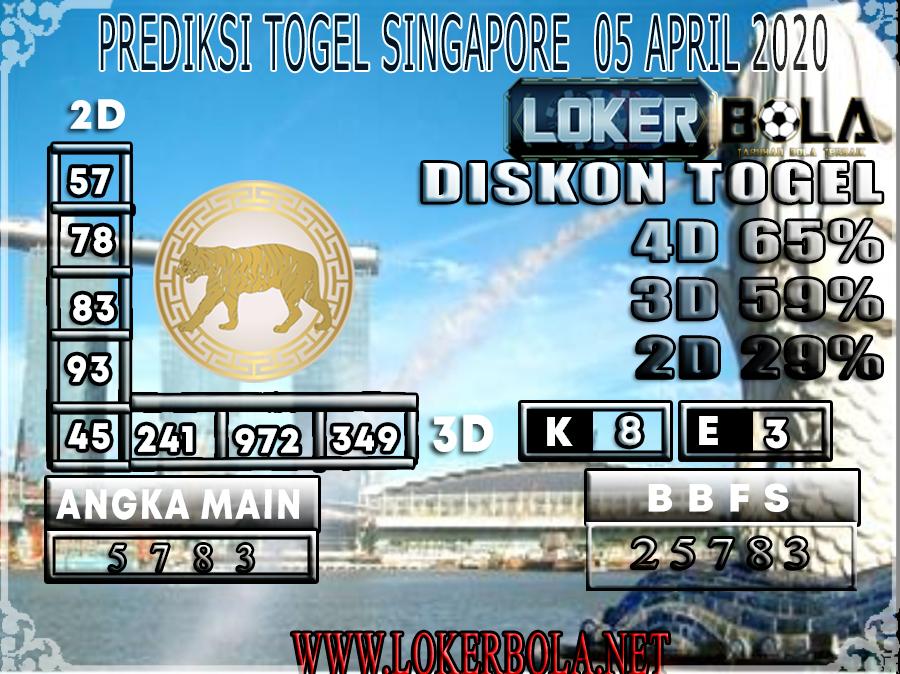 PREDIKSI TOGEL SINGAPORE LOKERBOLA 05 APRIL 2020