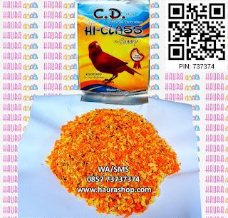 CD / Cede Canary Super Hi-Class adalah pakan untuk burung kenari yang terbuat dari telur pilihan. Mengandung Protein, Vitamin Mineral, dan Asam Amino yang sangat diperlukan untuk menambah asupan nutrisi harian burung Anda