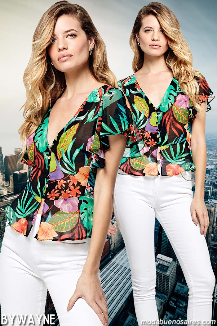 Blusas y pantalones primavera verano 2020. Moda verano 2020 mujer.