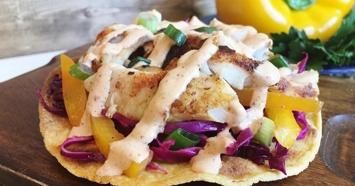 Cajun fish taco tostadas with mardi gras slaw and for Cajun fish tacos