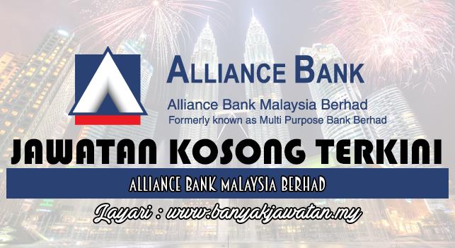 Jawatan Kosong Terkini 2017 di Alliance Bank Malaysia Berhad