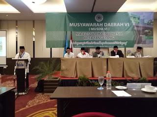 Inilah Nama Pengurus Hasil Musda VI MUI Kota Tangerang Priode 2020-2025