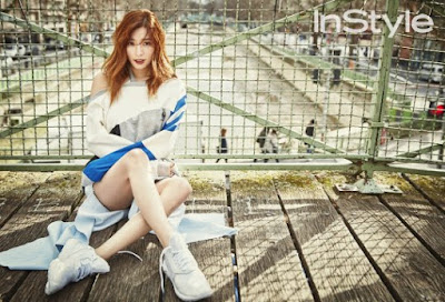 Tiffany Hwang SNSD Girls Generation InStyle April 2016