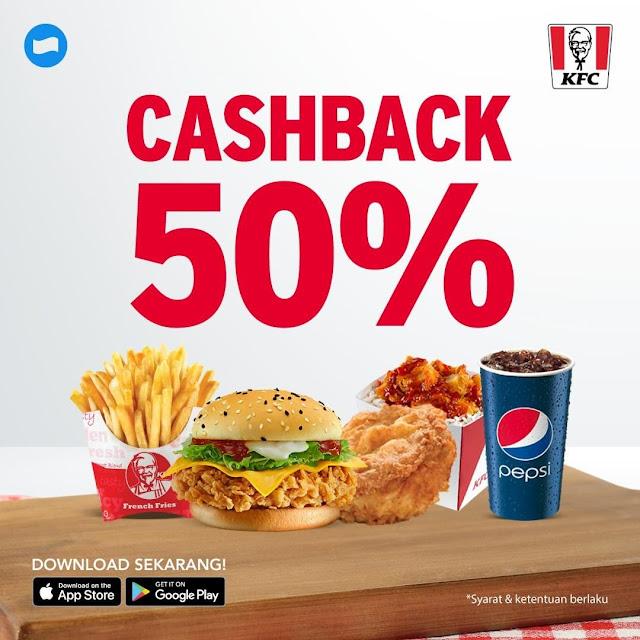 #KFC - #Promo Cashback 50% Pakai DANA Maks Cashback 25K
