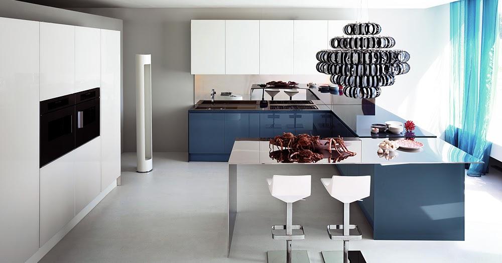 Resplandecientes cocinas con puertas de cristal cocinas - Modelos de puertas de cocina ...
