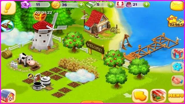 لعبة المزرعة السعيدة للاندرويد