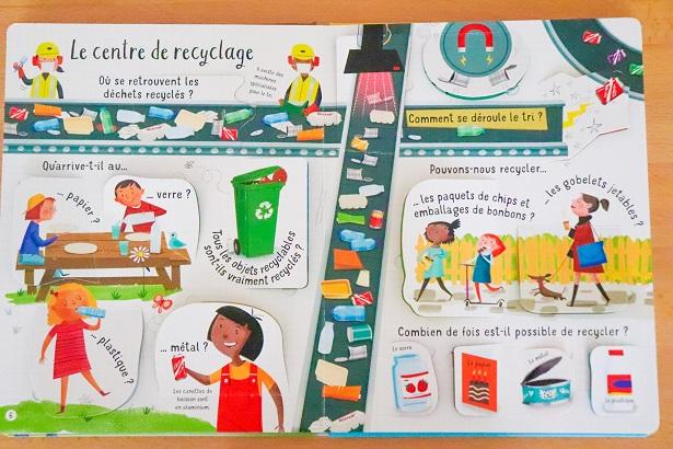 Mon livre questions-reponses Les dechets et le recyclage - usborne