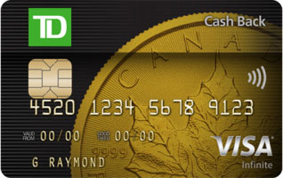 Td Visa Rewards >> Rewards Canada Td Cash Back Visa Infinite Card First Year