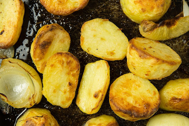 Instant Pot Garlic Roasted Potatoes Recipe