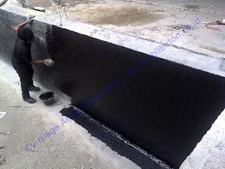 waterproofing coating pu atau polyurethane pada kolam renang