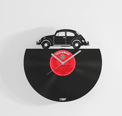 Volkswagen Beetle Record Wall Clock