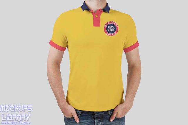 polo t shirt mockup free