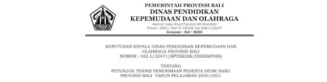 Jadwal Pendaftaran, Zonasi dan Juknis PPDB SMAN SMKN Provinsi Bali Tahun Pelajaran 2020/2021