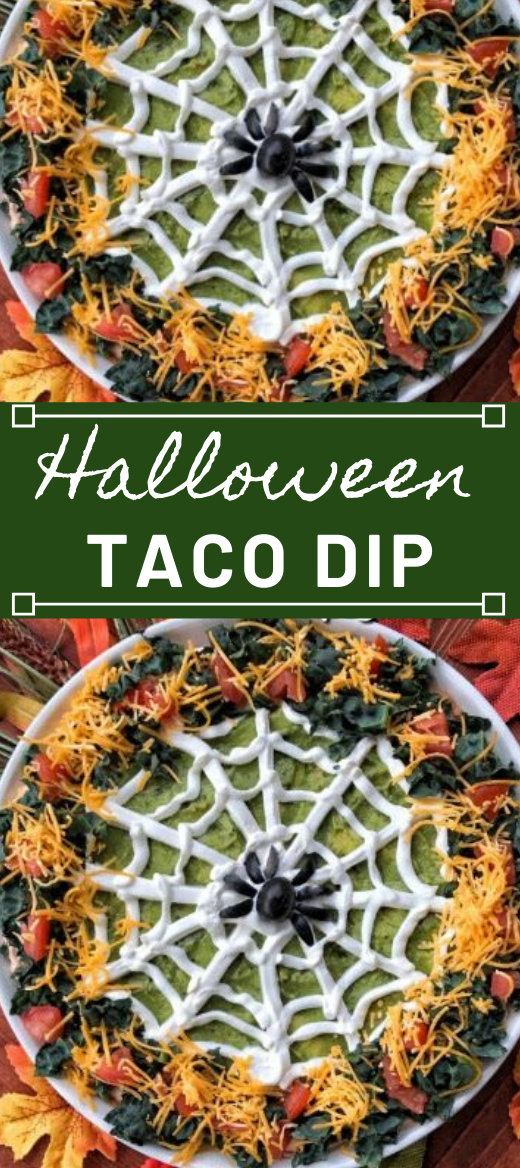 Halloween Taco Dip #vegetarian #vegan #easy #taco #breakfast