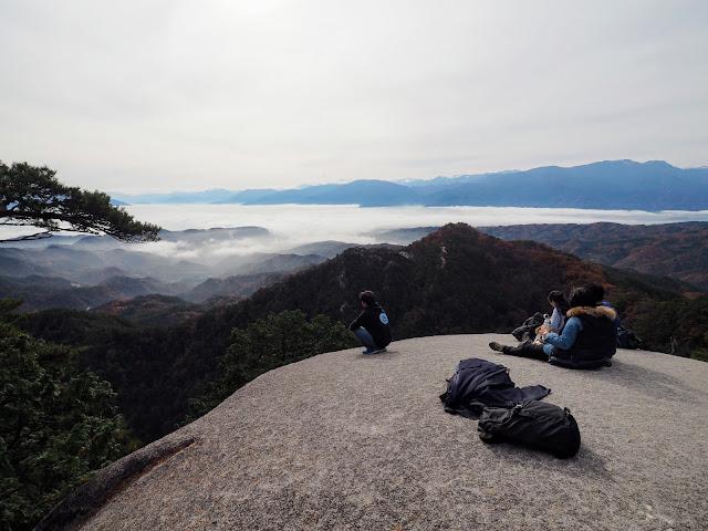 昇仙峡 弥三郎岳 雲海