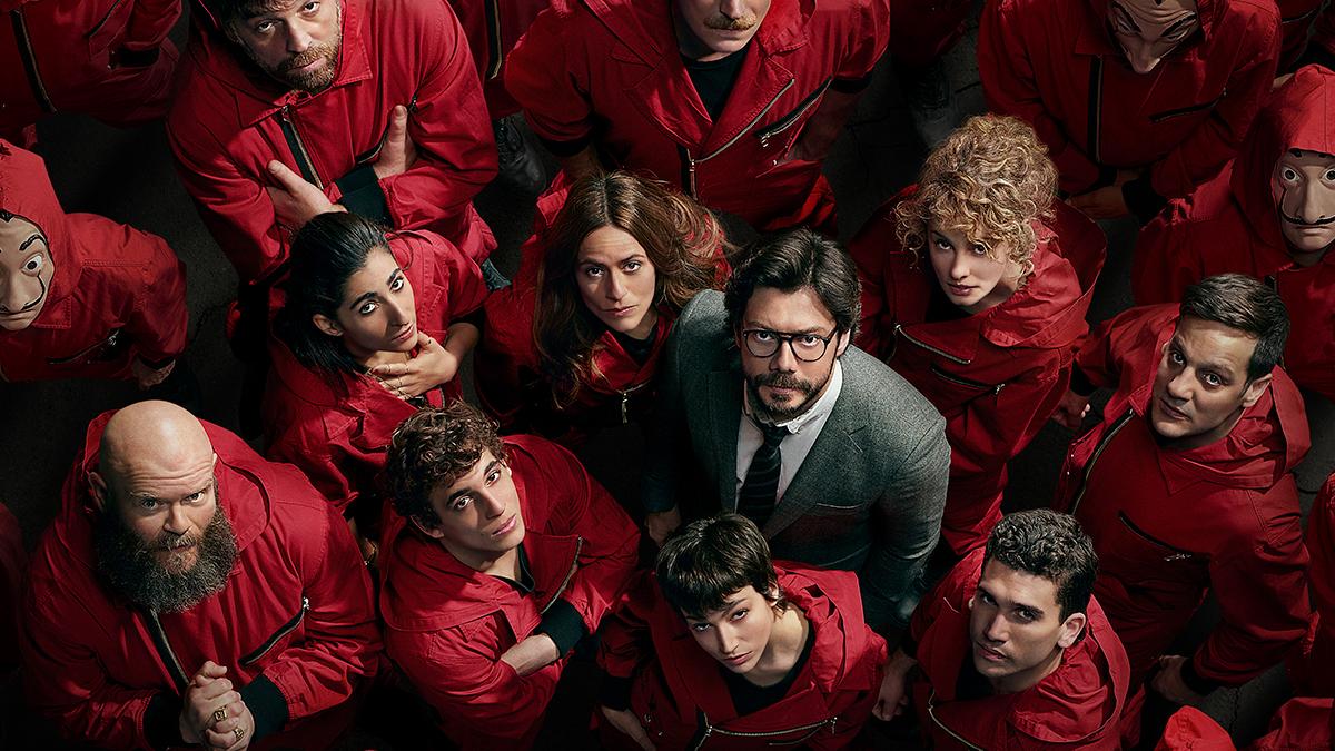 Protagonistas de la cuarta temporada de La casa de papel