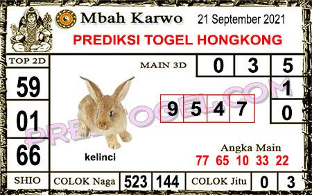 Prediksi Mbah Karwo Hk Selasa 21 September 2021