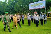Polres Serang Kota bersama Forkopimda Laksanakan Apel Gelar Pasukan Ops Ketupat Maung 2021
