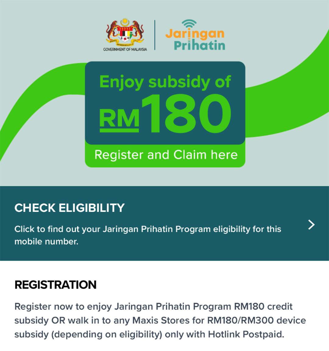 Program Jaringan Prihatin B40, Tebus Subsidi RM180-RM300
