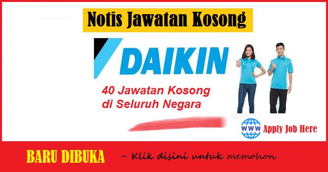 jawatan kosong swasta, jawatan kosong daikin, jawatan kosong malaysia
