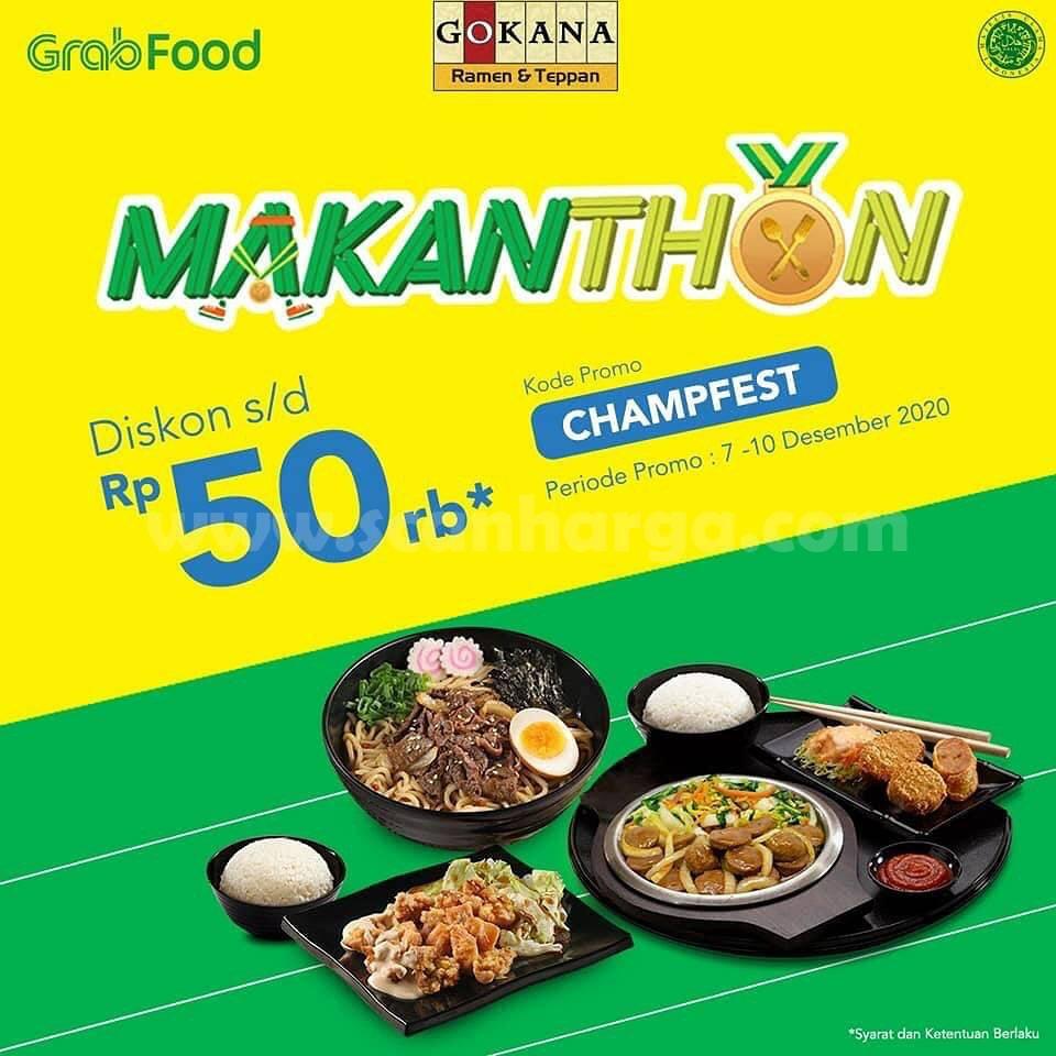 Gokana Resto Promo Makanthon - Diskon Rp. 50.000 via Grabfood
