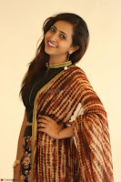 Lasya looks super cute in black choli Saree at Raja Meru Keka Press Meet ~  Exclusive 099.JPG